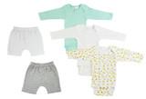 Infant Boys Long Sleeve Onezies And Shorts - BLTCS_0338NB