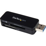 StarTech.com USB 3.0 External Flash Multi Media Memory Card Reader - SDHC MicroSD