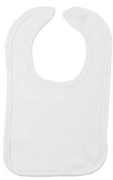 White Interlock Bib