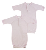 Preemie Solid Pink Gown - 2 Pack