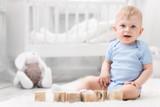 Boys Infant Robe, Hooded Towel And Washcloth Mitt - 3 Pc Set