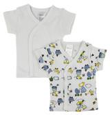 White Side Snap Short Sleeve Shirt - 2 Pack