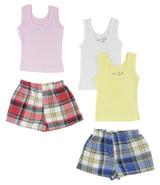 Girls Tank Tops And Boxer Shorts