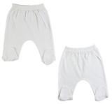 White Closed Toe Pants - 2 Pack
