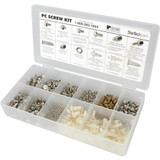 StarTech.com Deluxe Assortment PC Screw Kit - Screw Nuts and Standoffs - Assortment Of 12 Common PC Case Screws - Screw kit