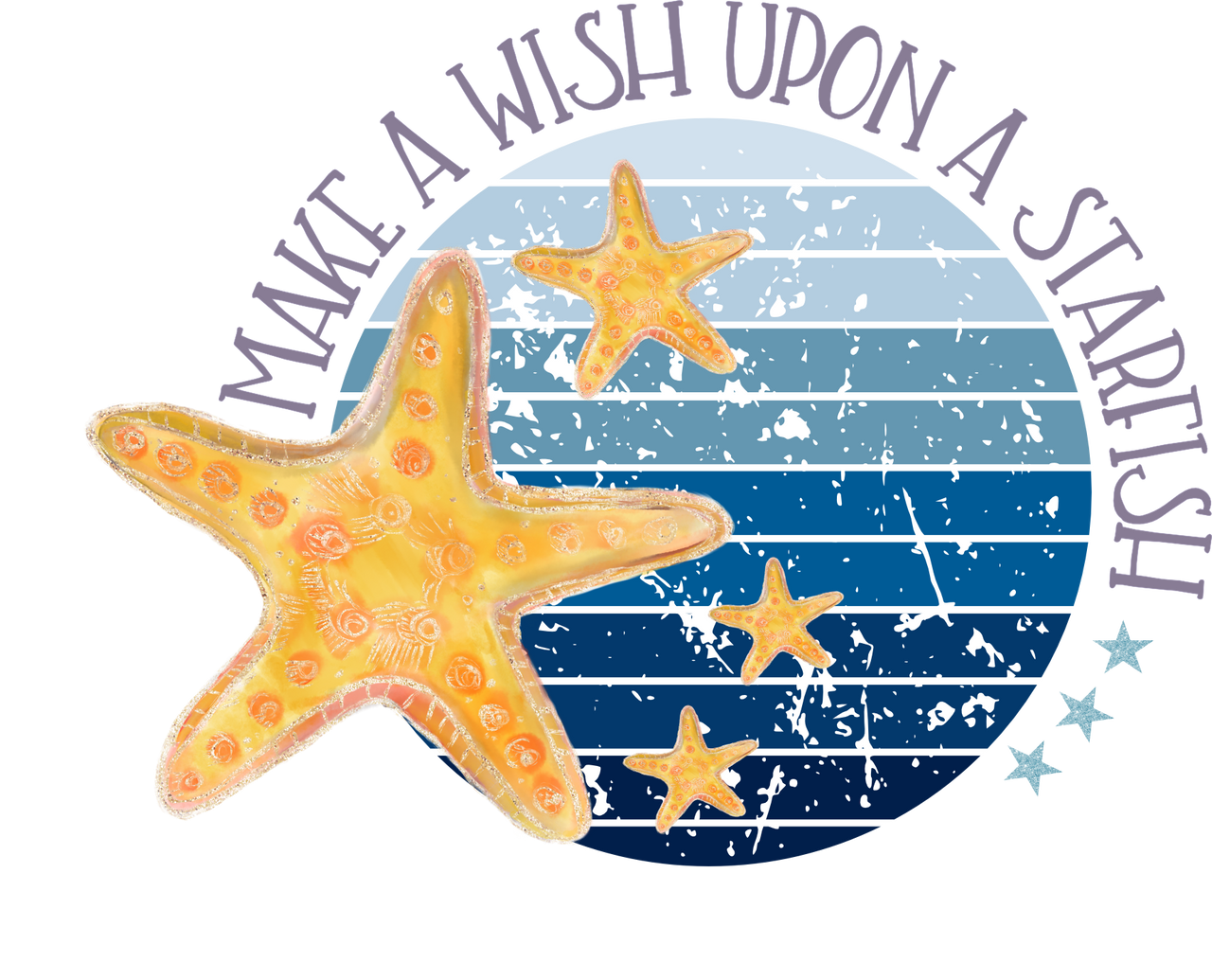 Starfish Wishes Beach Sublimation Design The Svg Stop Printable Designs