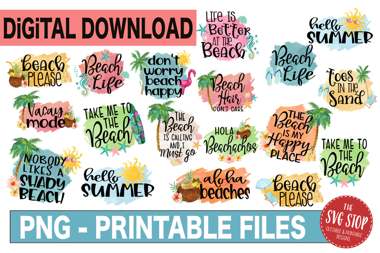 image about Printable Clip Art identified as Seashore Package deal - Sublimation Layout - PNG Printable Report - Clipart