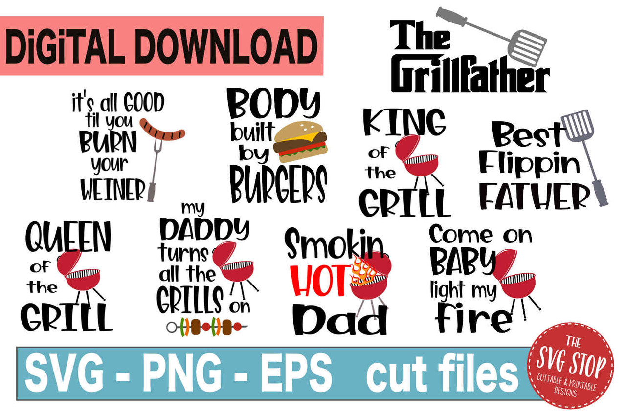 Free Add 4 designs to your cart, use promo code: Bbq Grill Svg Bundle The Svg Stop Cuttable Printable Designs SVG, PNG, EPS, DXF File