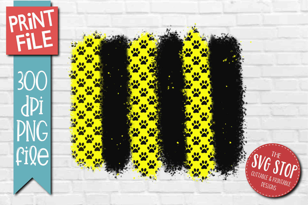 Yellow Paw Print Paint Strokes Background Sublimation Design The Svg Stop Cuttable Printable Designs They must be uploaded as png files, isolated on a transparent background. yellow paw print paint strokes background png print file sublimation design