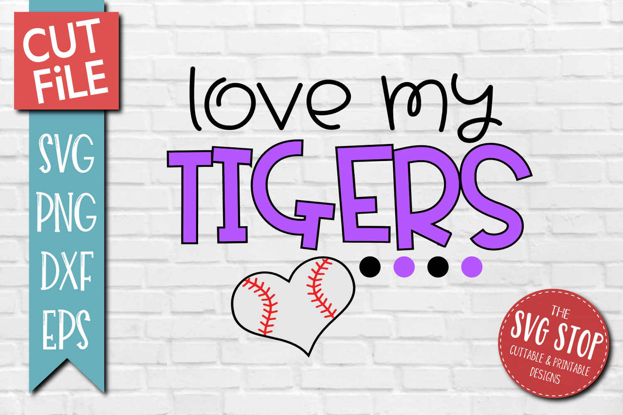 Tigers Baseball Mascot Design The Svg Stop Cuttable Printable Designs