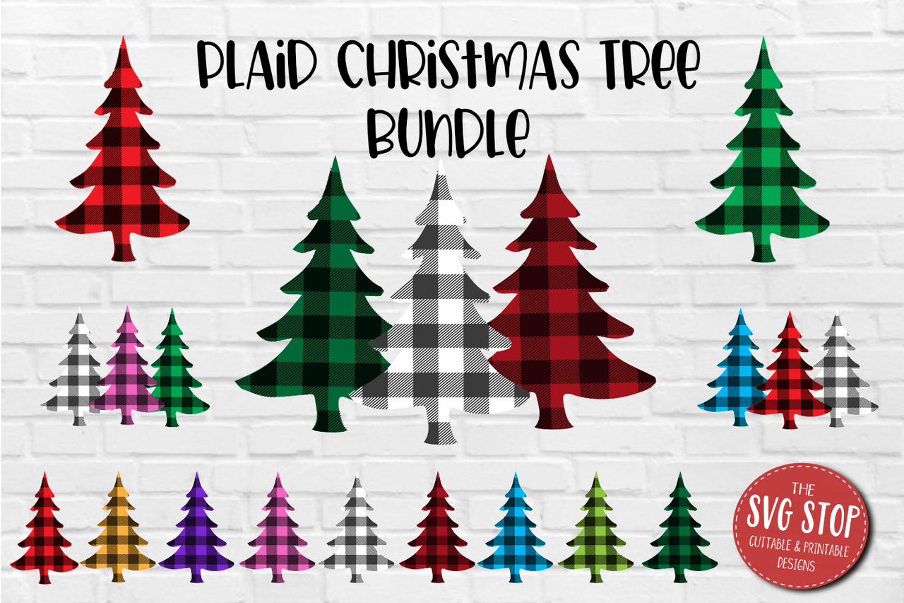 Buffalo Plaid Print Trees Sublimation Designs The Svg Stop Cuttable Printable Designs