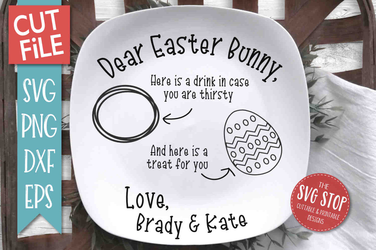 Easter Bunny Plate Svg The Svg Stop Cuttable Printable Designs