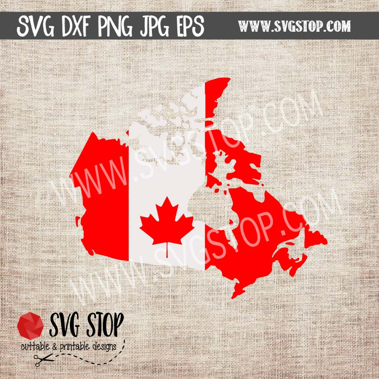 Map Of Canada Eps.Canada Flag Map Clip Art Cut Files The Svg Stop