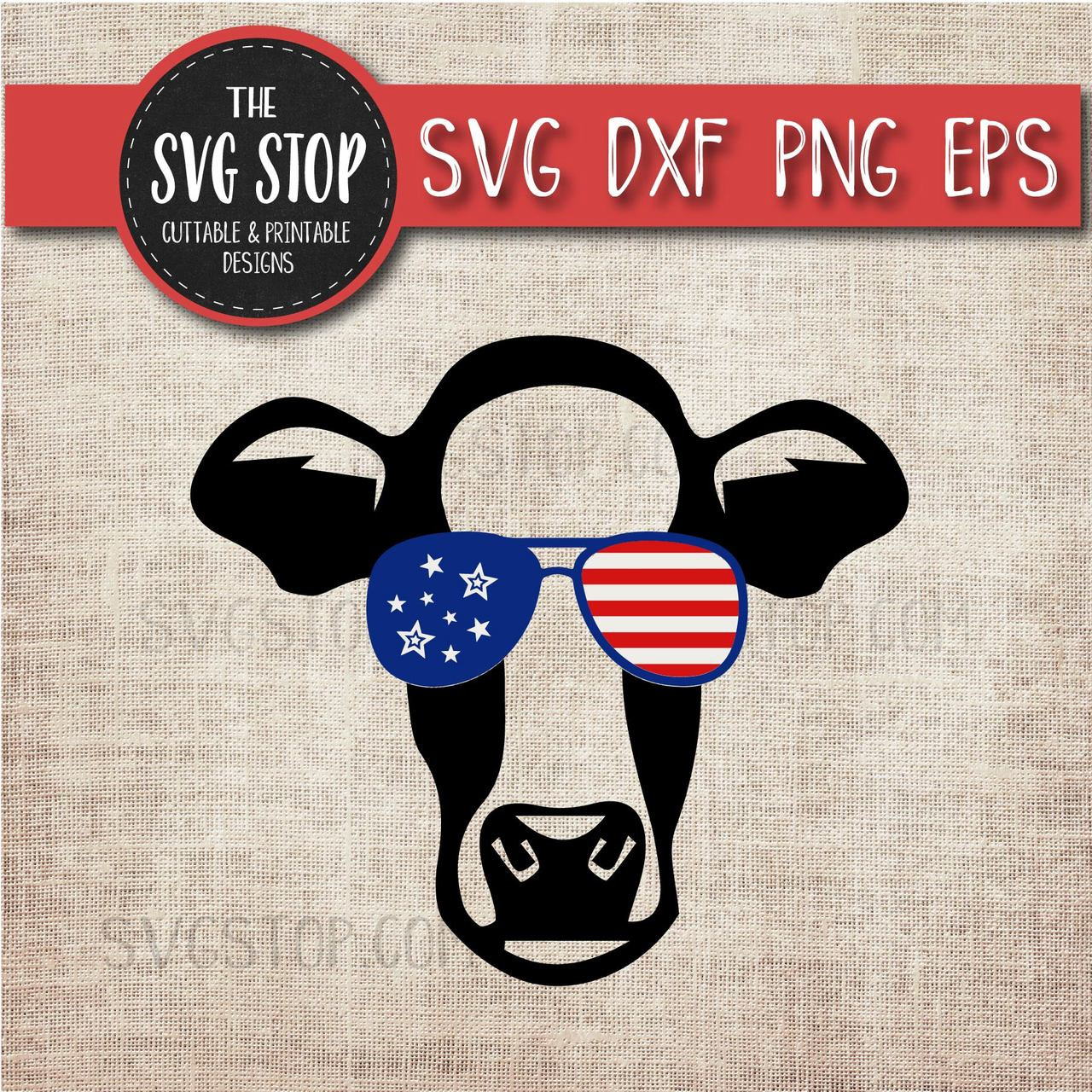 3172c2ae06f Cow with glasses flag glasses america patriotic svg clipart cut file  sublimation design