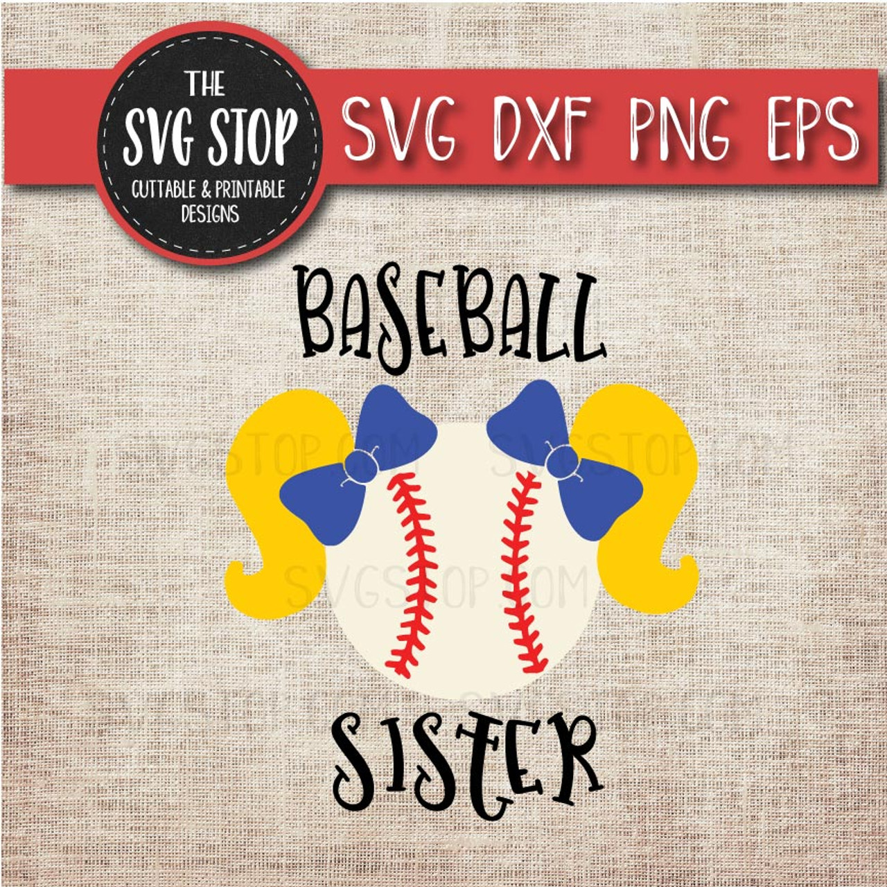 00f0e311b209a baseball sister sibling pigtails svg clipart cut file sublimation design
