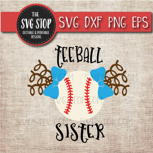 Teeball sister sibling pigtails Curls svg clipart cut file sublimation design