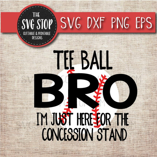 Teeball Brother sibling concession stand svg clipart cut file sublimation design
