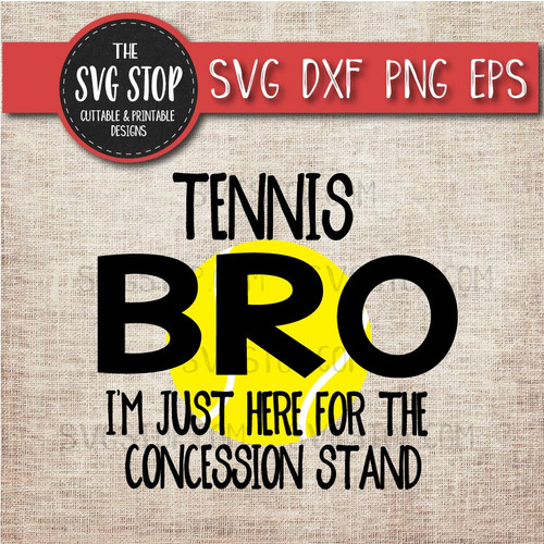 Tennis Brother sibling concession stand svg clipart cut file sublimation design