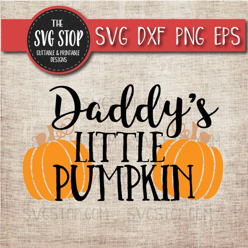 Daddy's Little Pumpkin svg clipart cut file sublimation design