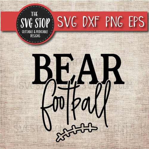 bear football svg clipart cut file sublimation design print n cut