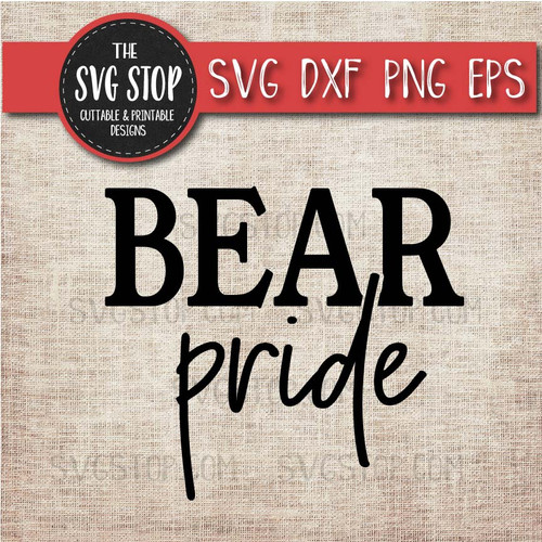 bear pride svg clipart cut file sublimation design print n cut