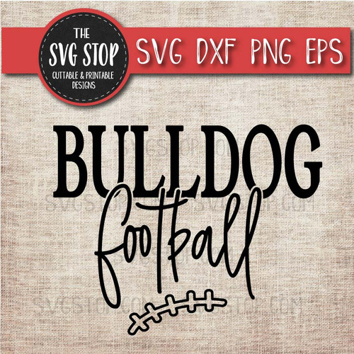 Bulldog Football svg clipart cut file sublimation design print n cut