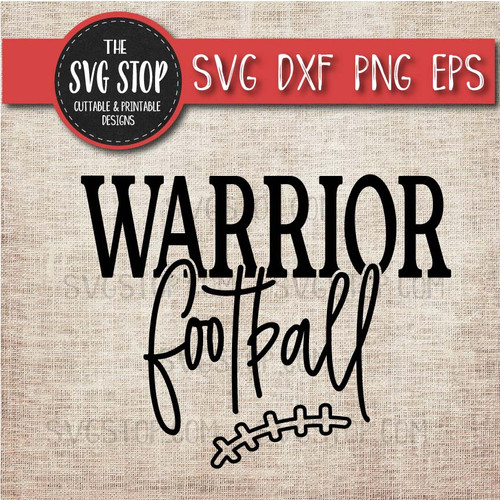 Warrior Football svg clipart cut file sublimation design print n cut