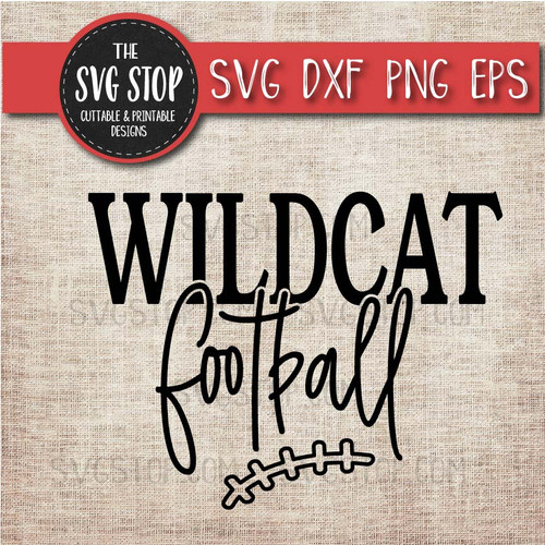 Wildcat Football svg clipart cut file sublimation design print n cut