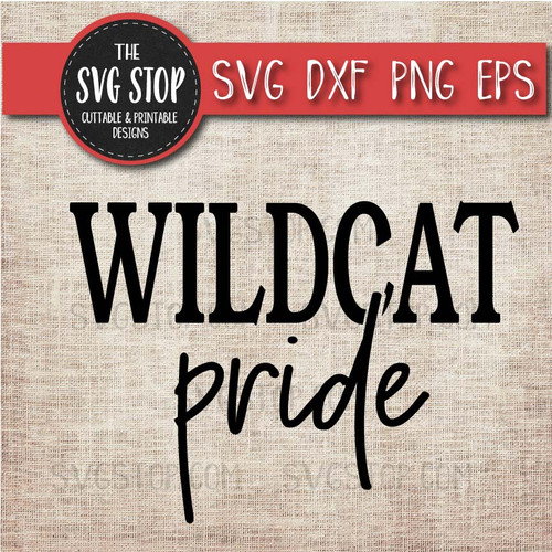 Wildcat Pride svg clipart cut file sublimation design print n cut