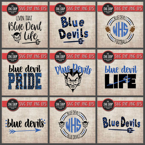 blue devils mascot clipart cut file svg sublimation tshirt designs