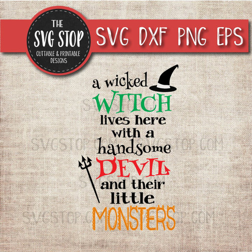 witch devil monsters halloween cut file clipart svg sublimation printing