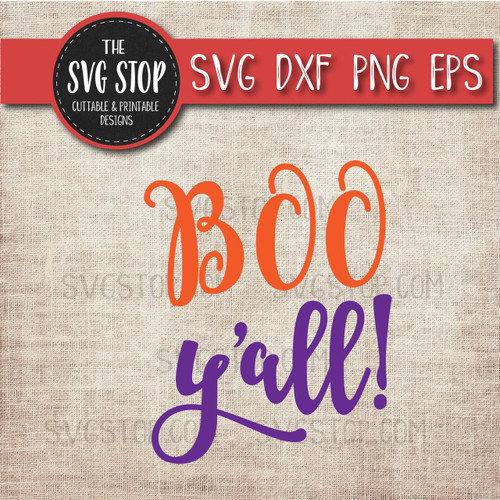 boo yall halloween clipart cut file svg sublimation