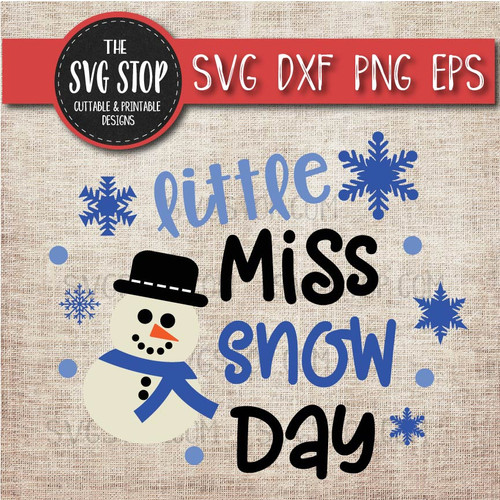 little miss snow day winter shirt design svg clipart cut file sublimation design