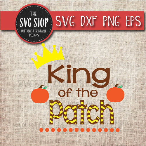 king of the pumpkin patch clipart cut file svg