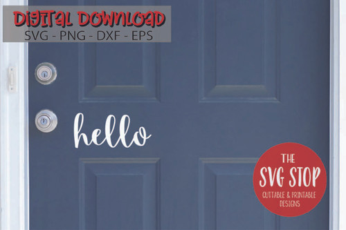 Hello Door Design Free SVG Cut Files and Sublimation Designs from the SVG Stop