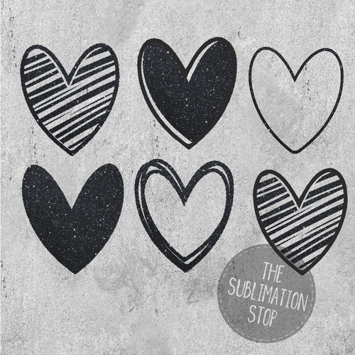 Black Glitter Hearts Sublimation Shapes Elements Collection Svg Stop