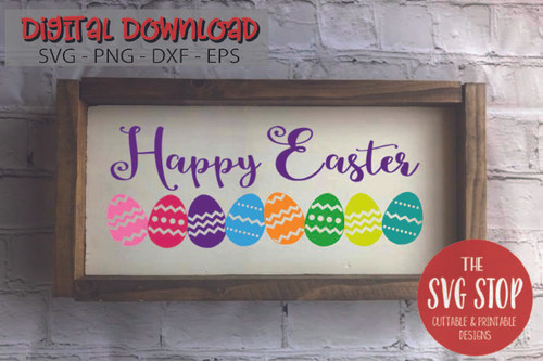 Happy Easter Eggs Free SVG Cut Files and Sublimation Designs from the SVG Stop
