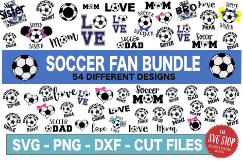 soccer fan svg cut file clipart bundle dxf png sublimation designs