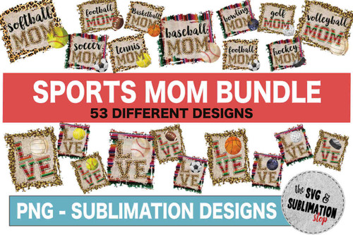 Sport mom sublimation printable designs for transfers