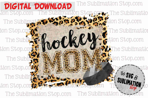 Hockey mom sublimation print and cut dtg design for tshirts