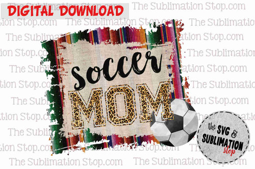 Soccer mom sublimation print and cut dtg design for tshirts
