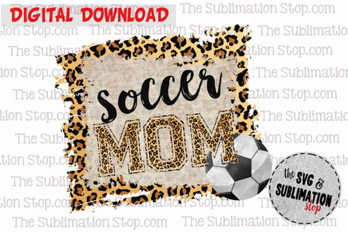 Soccer mom sublimation print and cut design