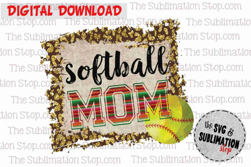 Softball mom sublimation print and cut dtg design for tshirts