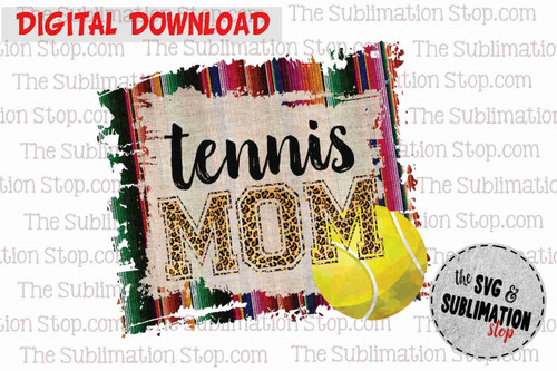 Tennis mom sublimation print and cut dtg design for tshirts