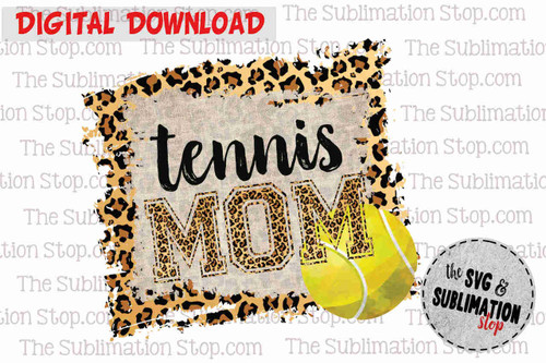 Tennis mom frame cheetah and serape sublimation design for print and cut or dtg printing