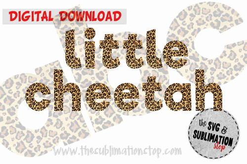 cheetah print letters font alphabet for sublimation printing