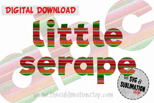 serape fabric letters font alphabet for sublimation printing
