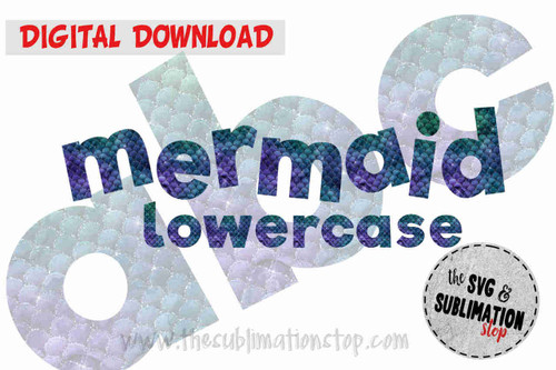 teal purple mermaid scales pattern letters font alphabet for sublimation printing