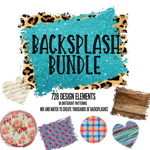 Backsplash bundle for sublimation for sublimation printing and graphic design