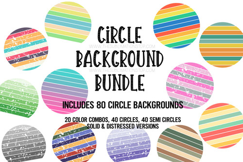 circle backgrounds for sublimation printing